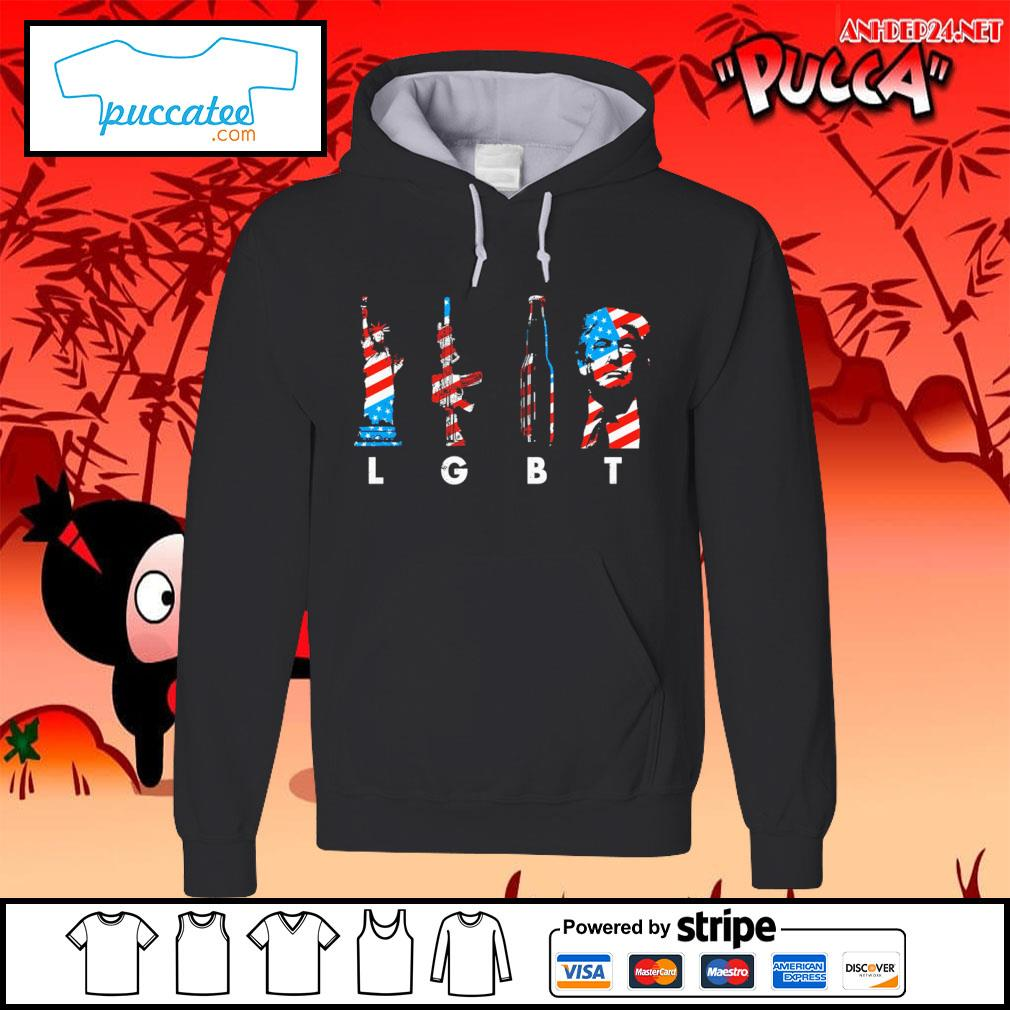 LGBT liberty guns beer Donald Trump American flag s hoodie.jpg
