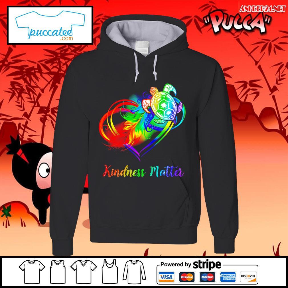 LGBT turtle kindness matter s hoodie.jpg