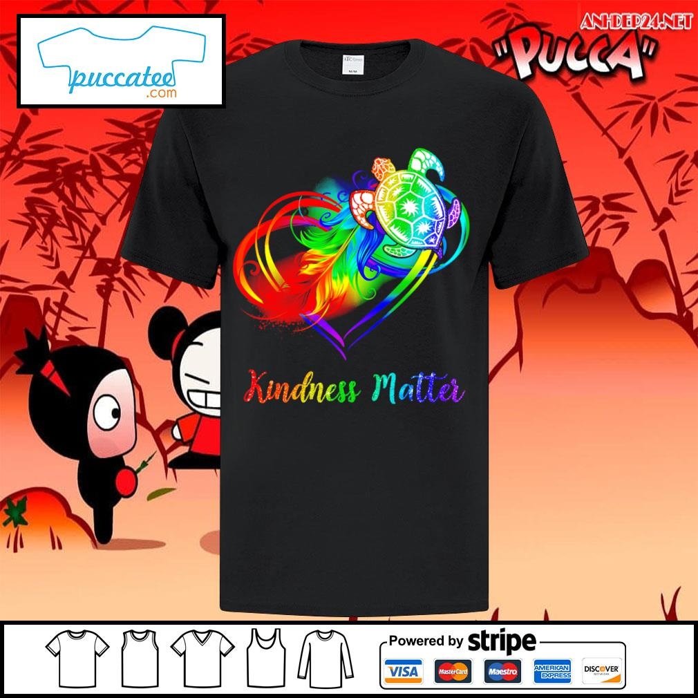 LGBT turtle kindness matter shirt