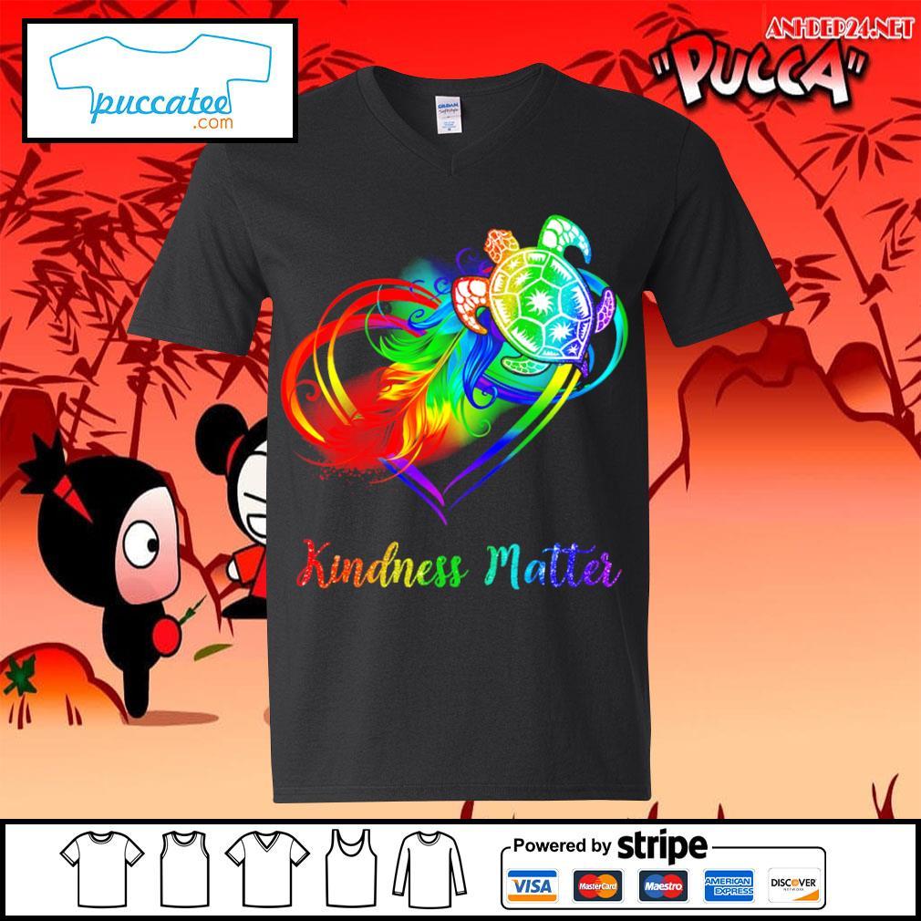 LGBT turtle kindness matter s v-neck-t-shirt.jpg