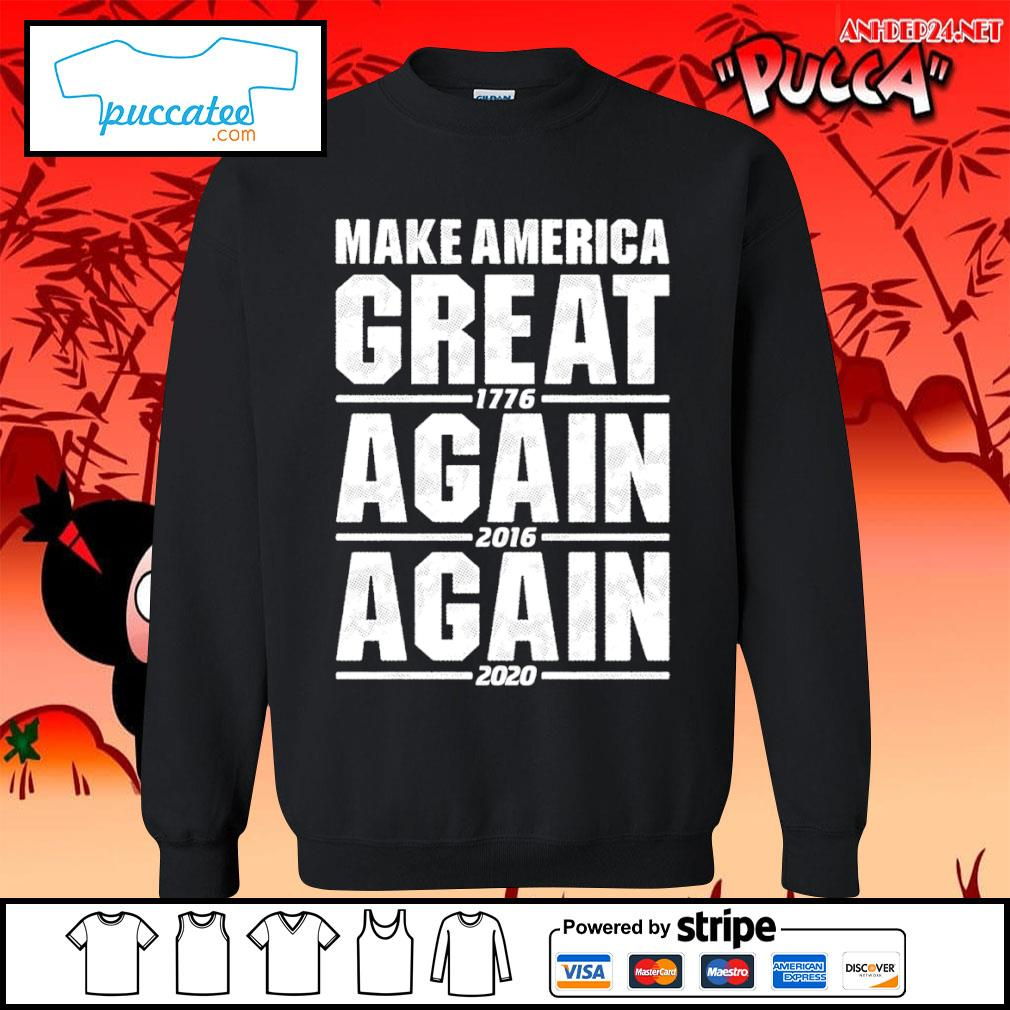 Make America great 1776 again 2016 again 2020 s sweater.jpg