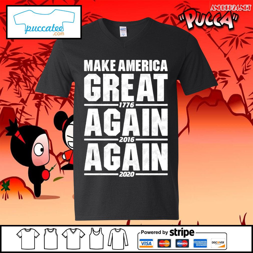 Make America great 1776 again 2016 again 2020 s v-neck-t-shirt.jpg