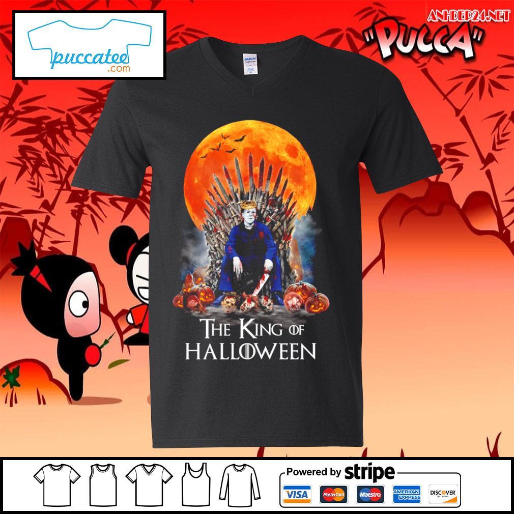 Michael Myers the King of Halloween s v-neck-t-shirt.jpg