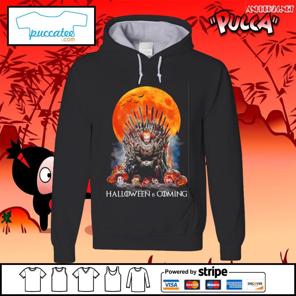 Pennywise Halloween is coming s hoodie.jpg