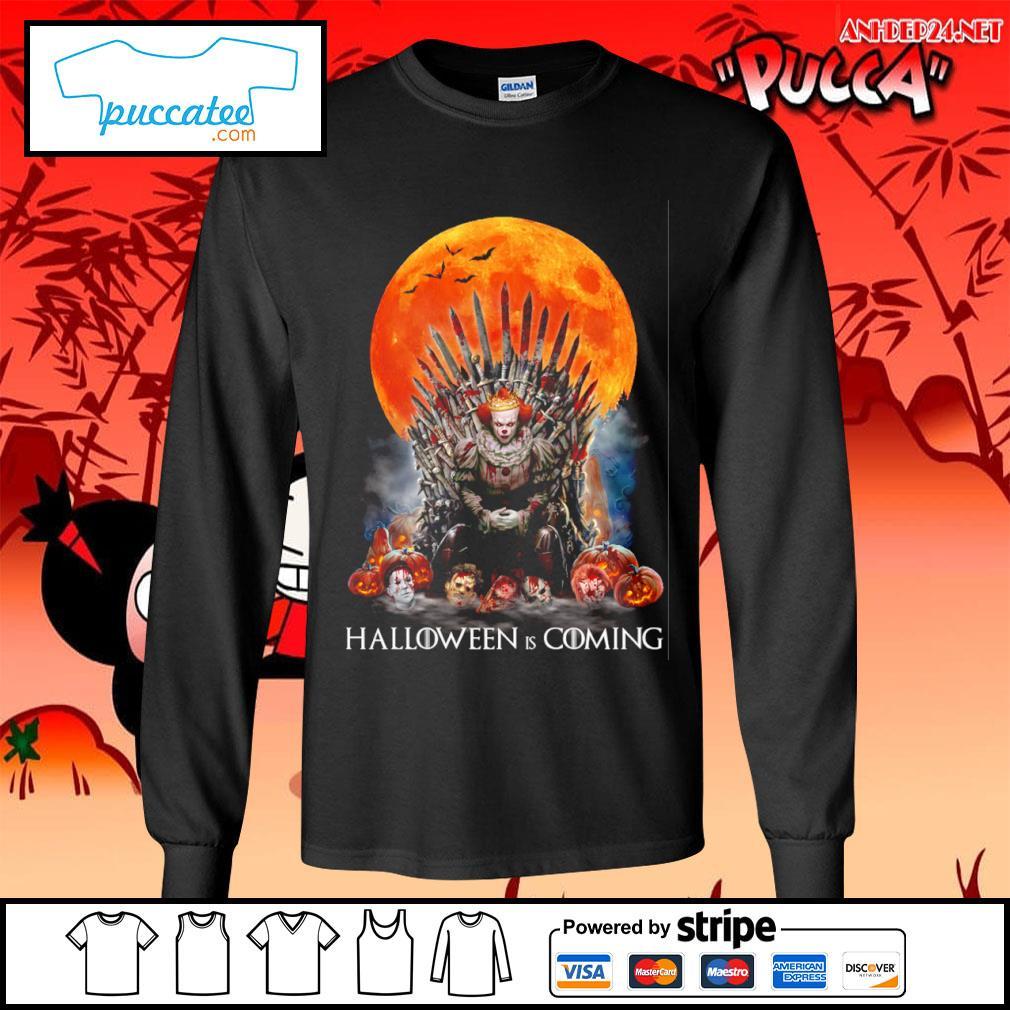 Pennywise Halloween is coming s longsleeve-tee.jpg