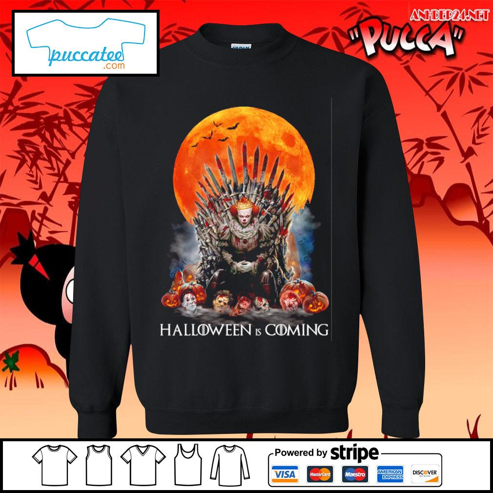 Pennywise Halloween is coming s sweater.jpg
