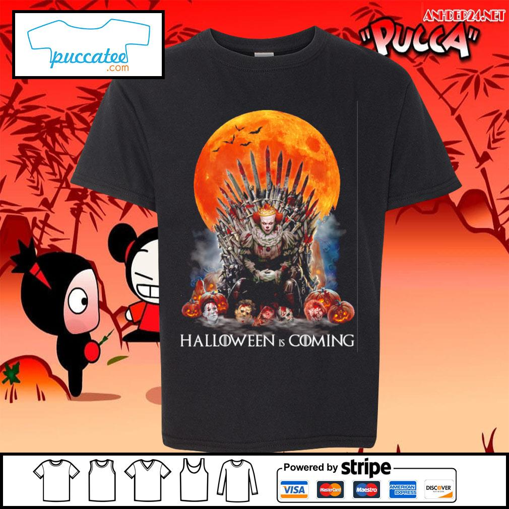 Pennywise Halloween is coming s youth-tee.jpg