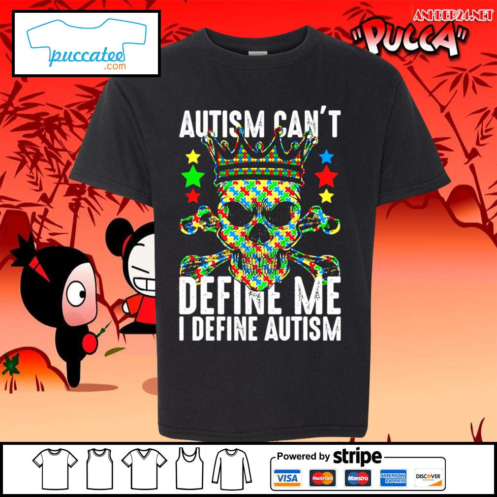 Skull Autism can't define me I define Autism Awareness s youth-tee.jpg