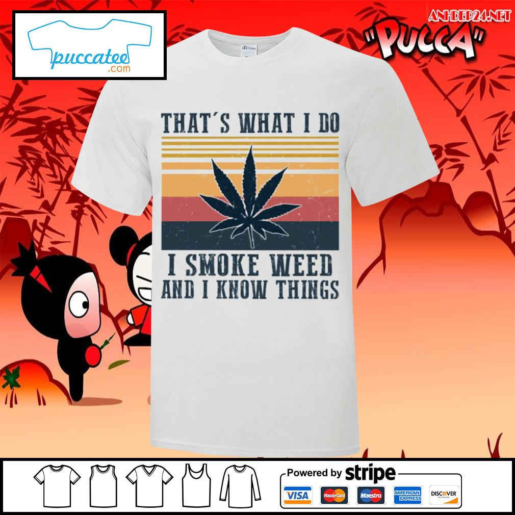 That's what I do I smoke weed and I know things vintage s v-neck-t-shirt.jpg