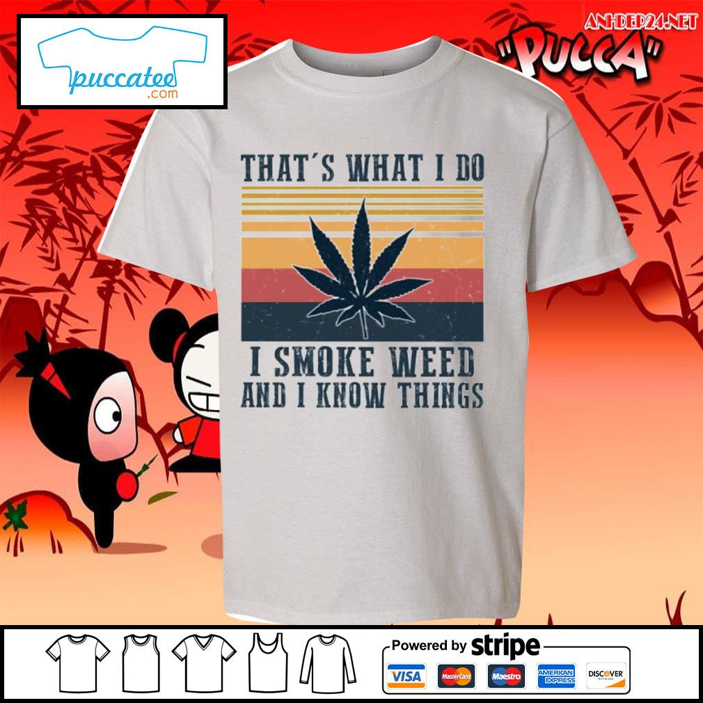 That's what I do I smoke weed and I know things vintage s youth-tee.jpg