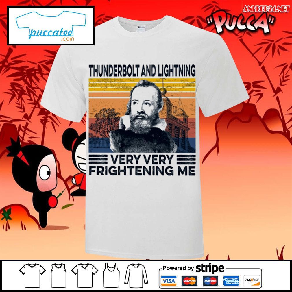 Thunderbolt and lightning very very frightening me vintage s v-neck-t-shirt.jpg
