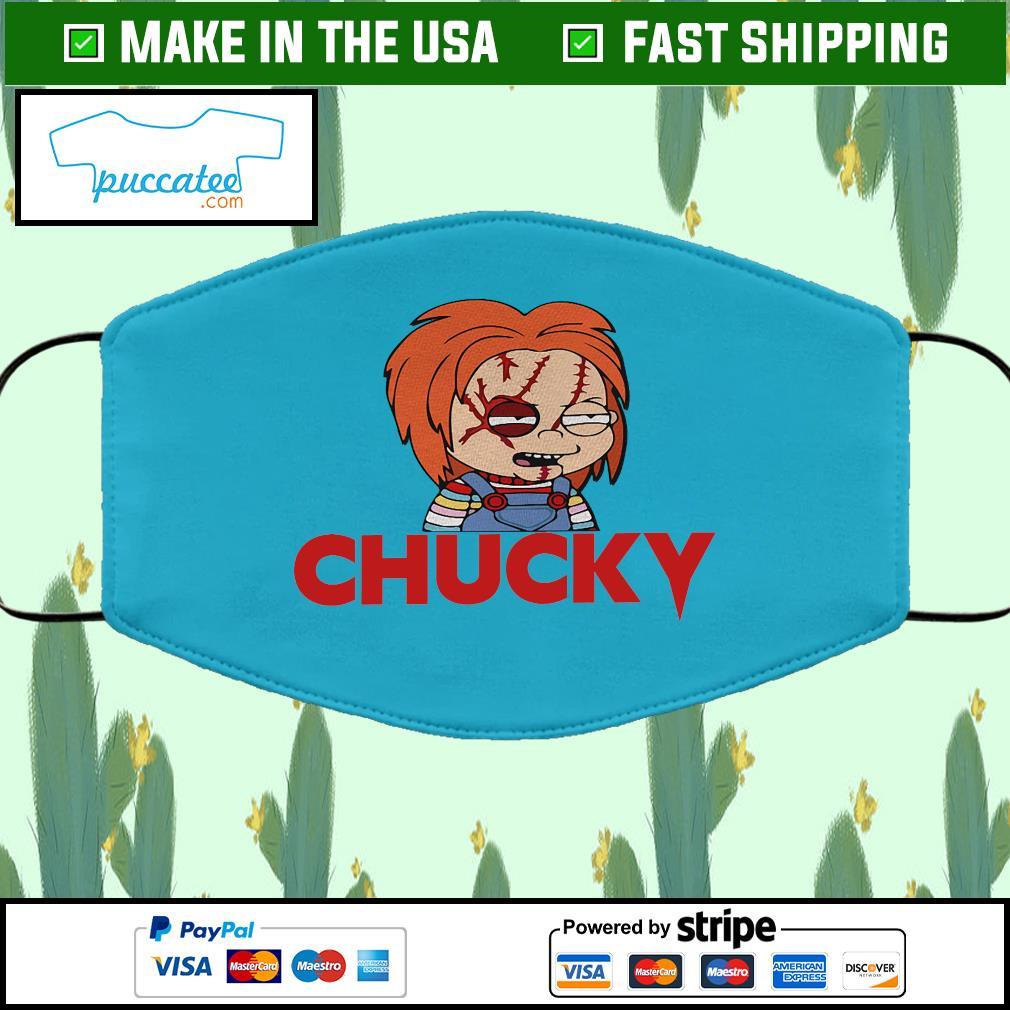 Chucky Cloth Face Mask Washable blue