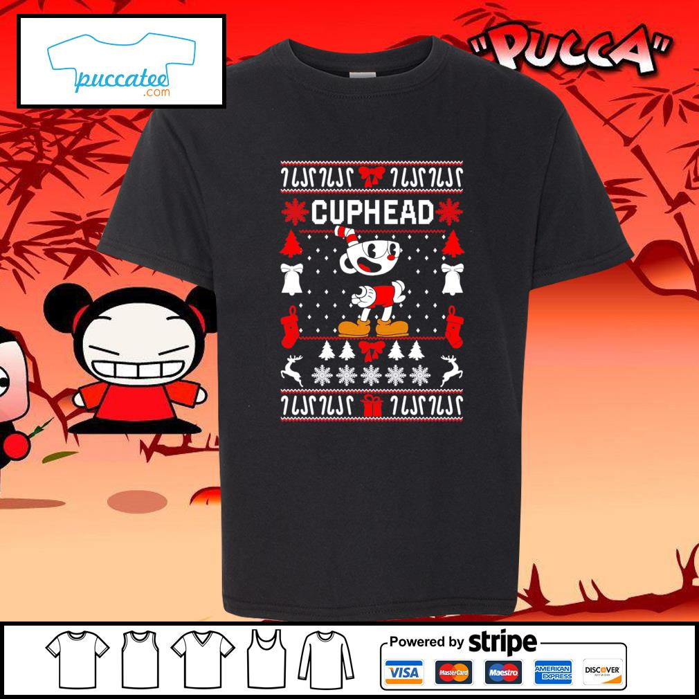 Cuphead ugly Christmas s youth-tee