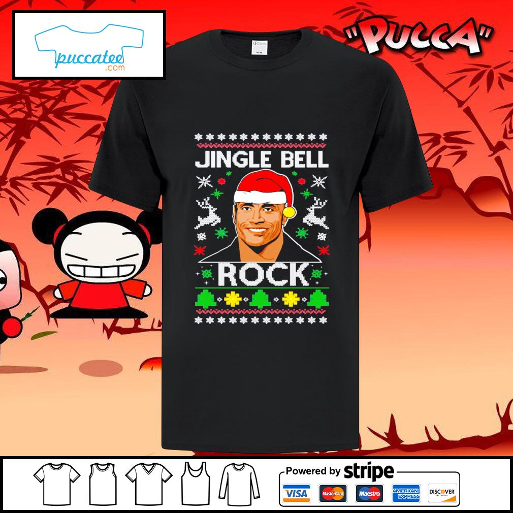 Dwayne Johnson jingle bell Rock ugly Christmas shirt