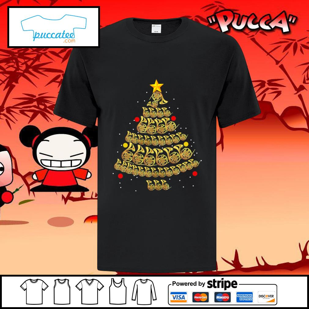 French Horn Christmas tree shirt