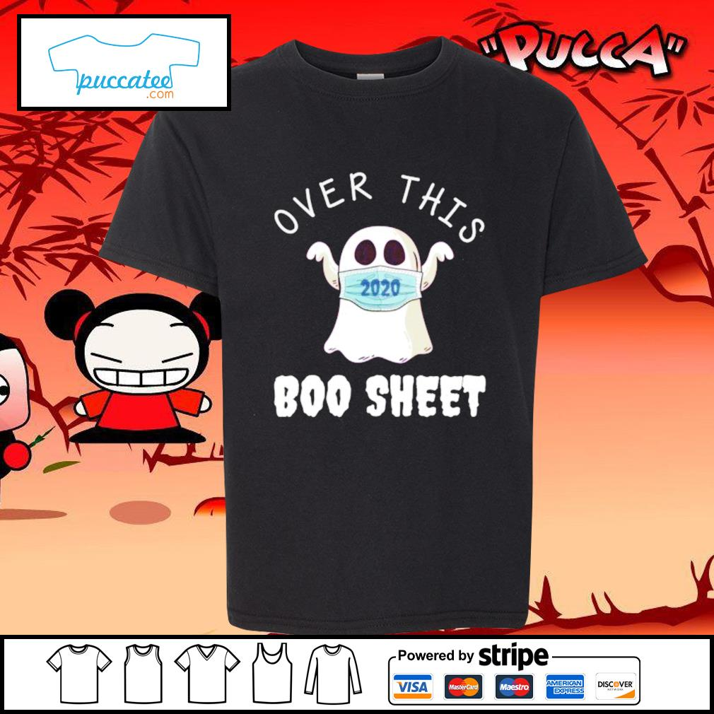 Ghost face mask 2020 over this boo sheet s youth-tee