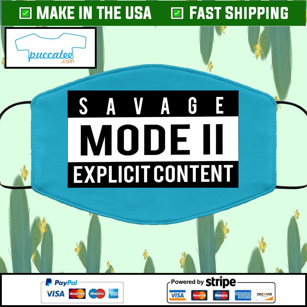 Savage Mode 2 Cloth Face Mask Washable blue