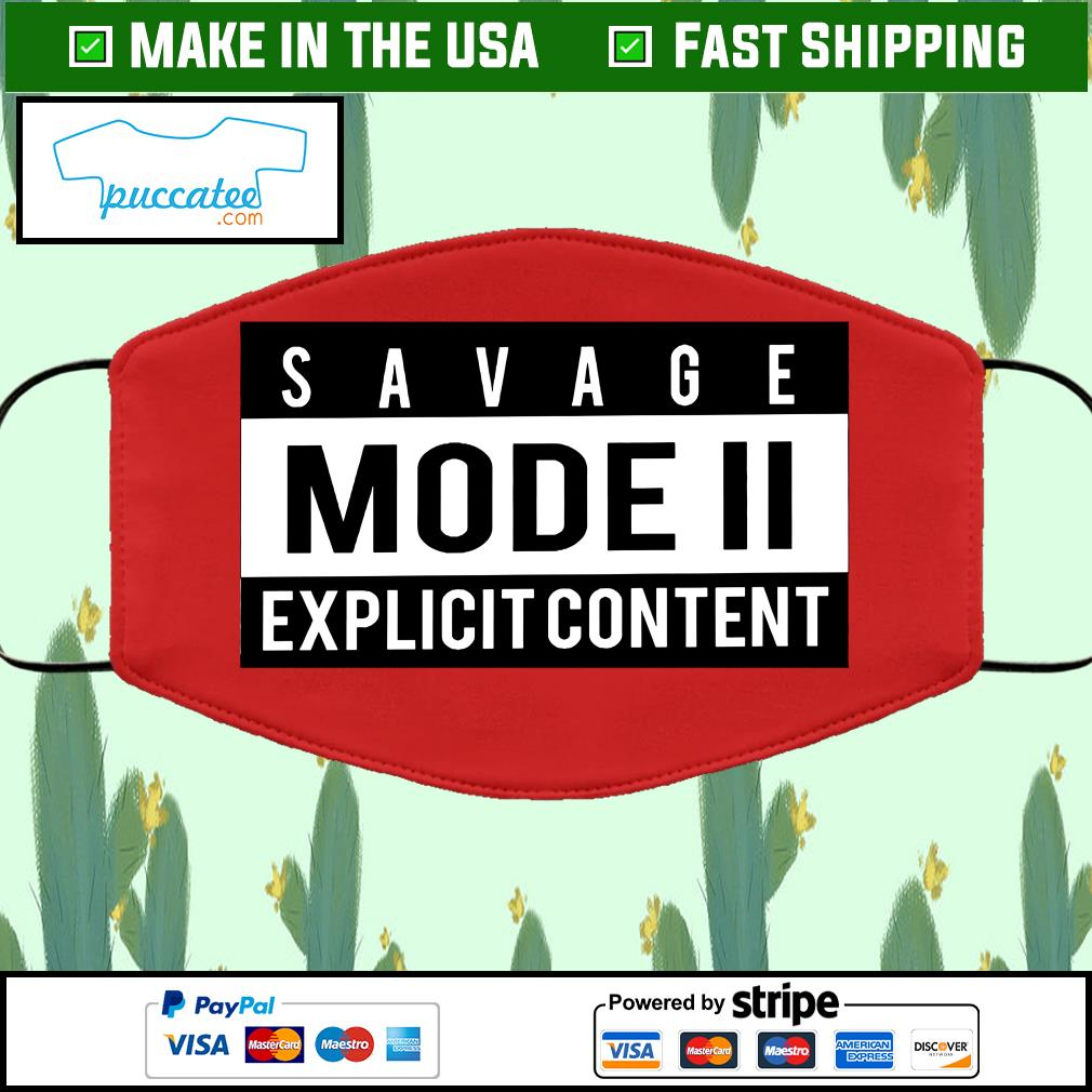 Savage Mode 2 Cloth Face Mask Washable red