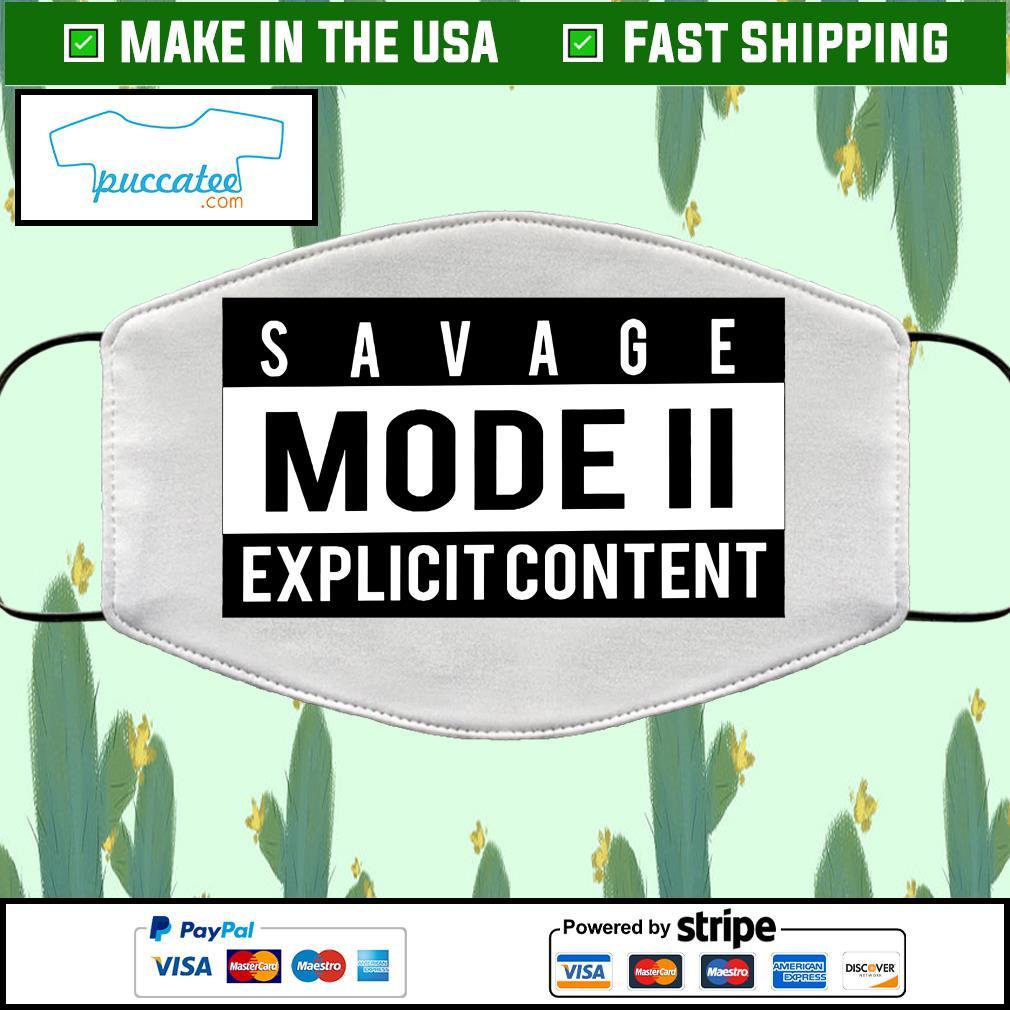 Savage Mode 2 Cloth Face Mask Washable