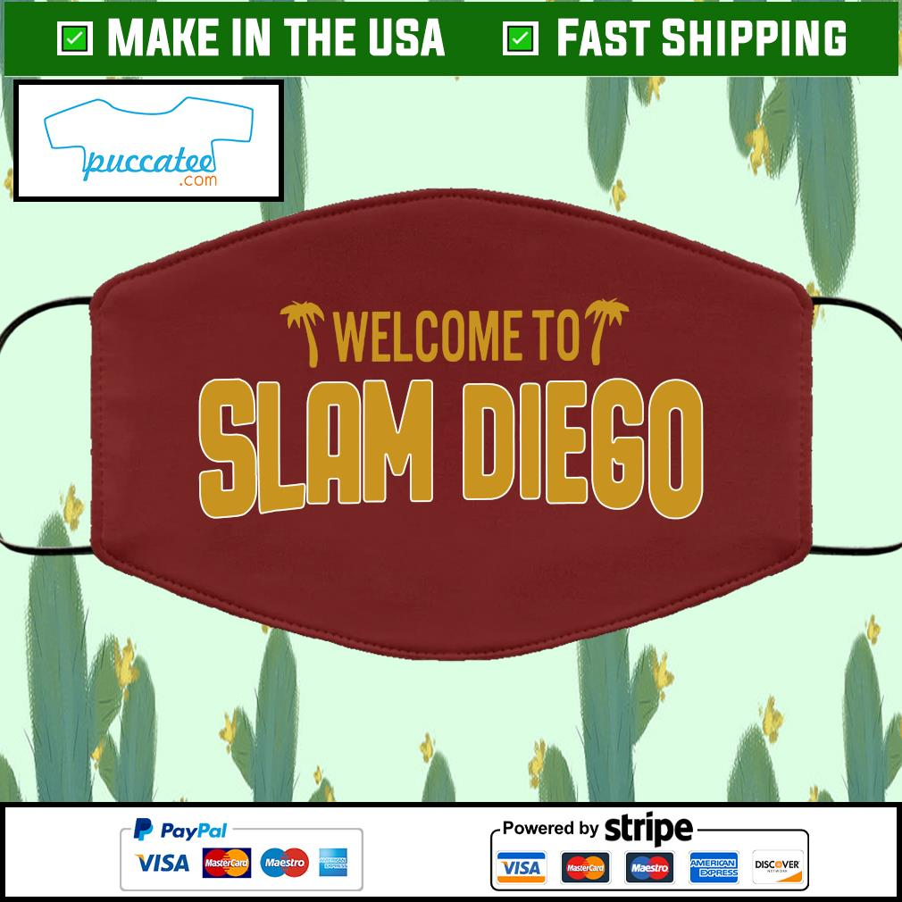 Welcome to slam diego Cloth Face Mask Washable brown