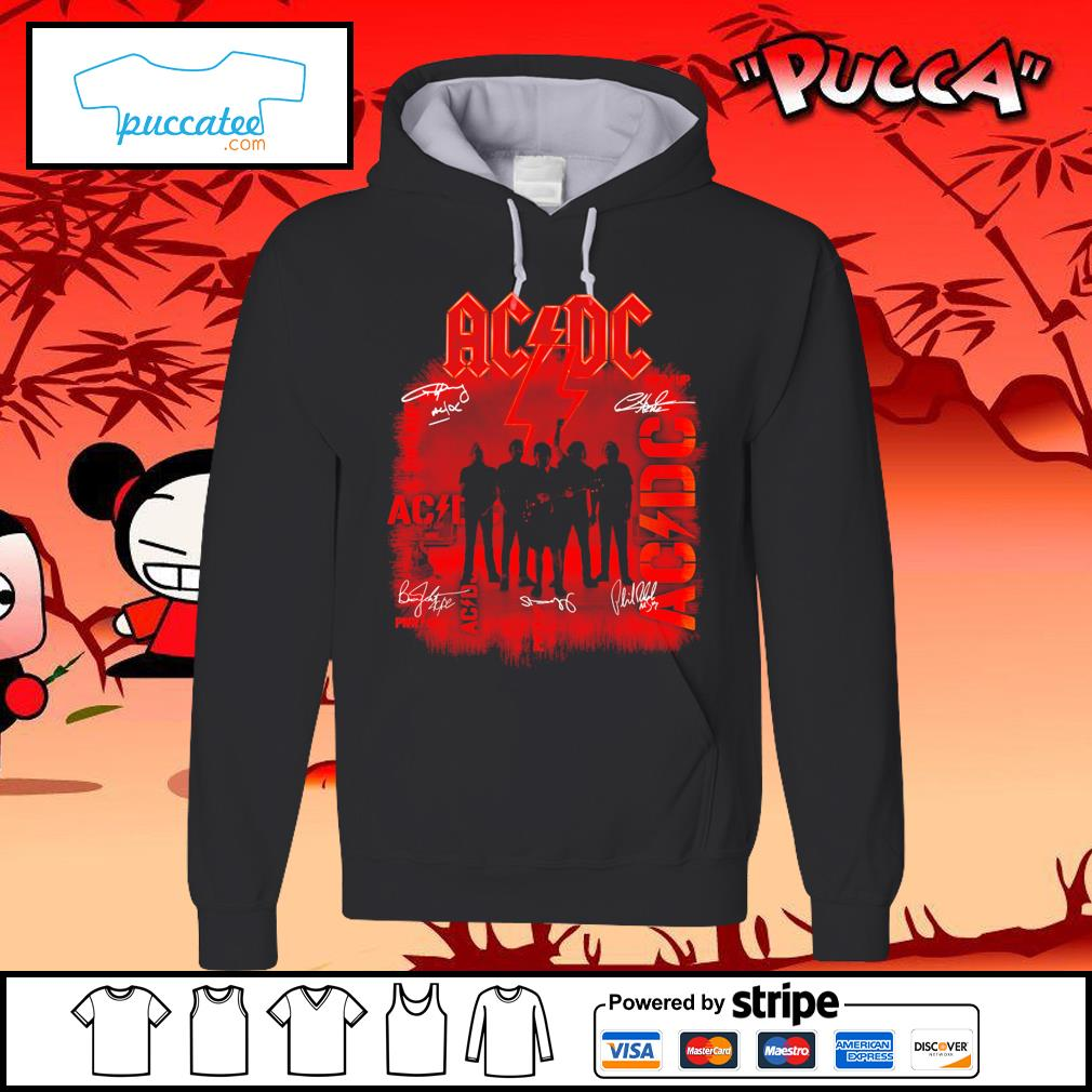 ACDC signature poster s hoodie