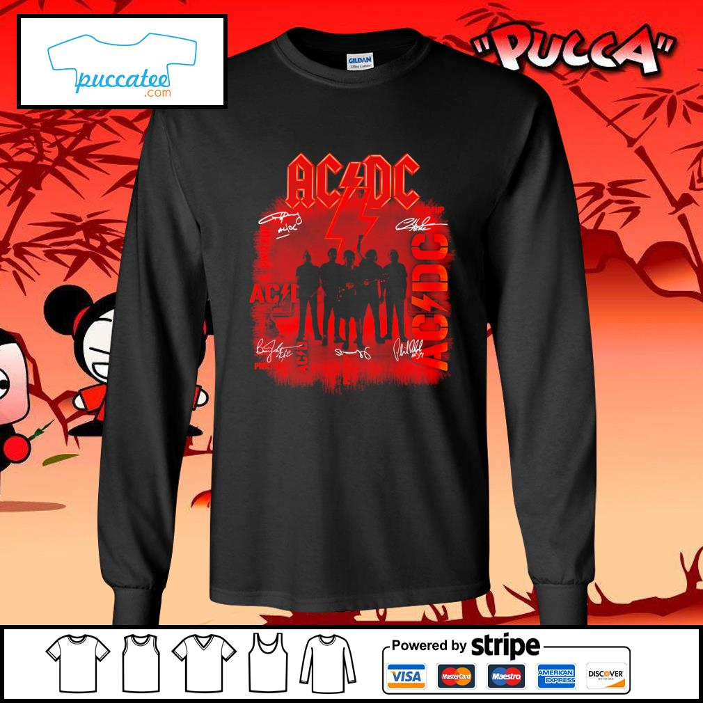 ACDC signature poster s longsleeve-tee
