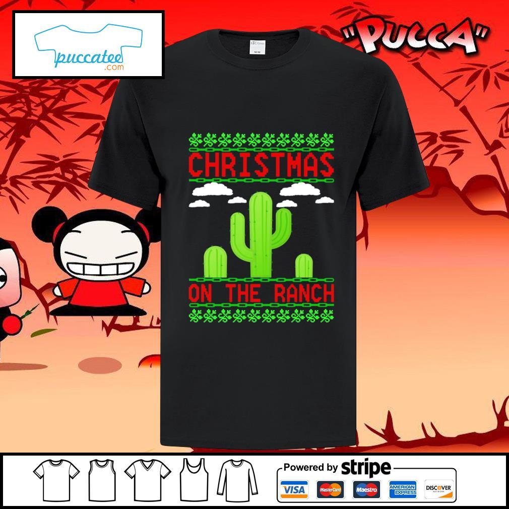 Cactus Christmas on the ranch ugly shirt