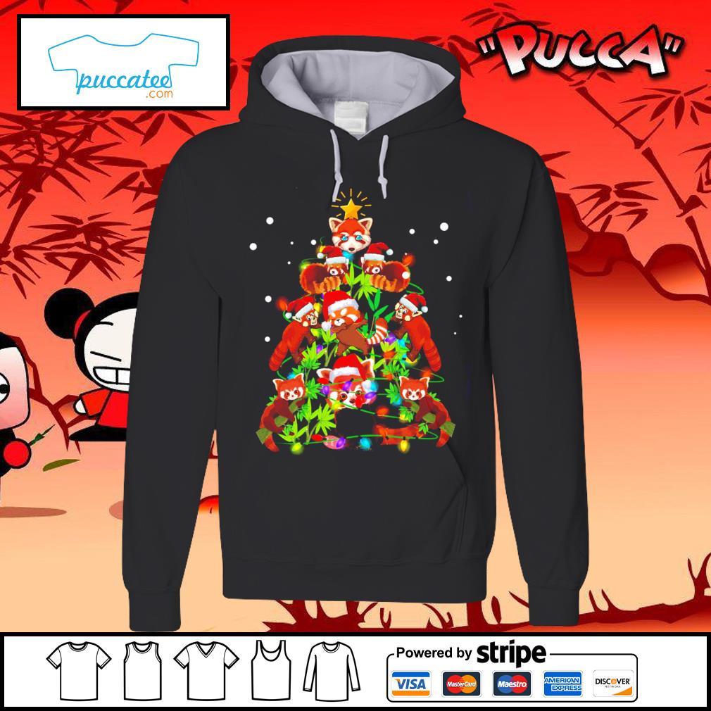Red Panda Christmas ornament tree Merry Christmas s hoodie