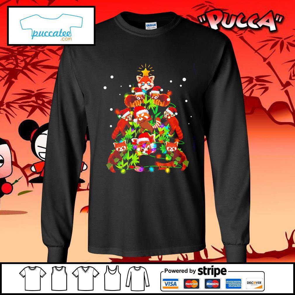 Red Panda Christmas ornament tree Merry Christmas s longsleeve-tee