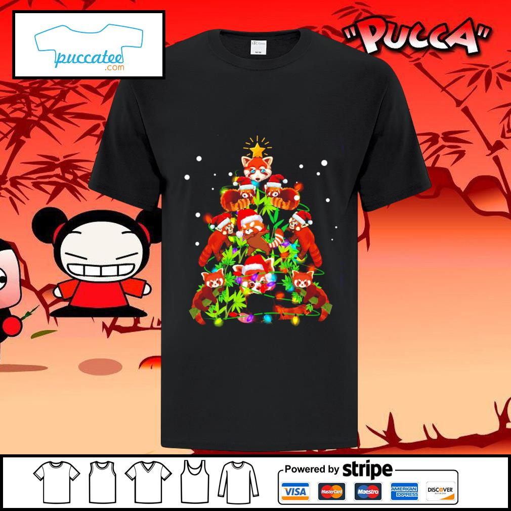 Red Panda Christmas ornament tree Merry Christmas shirt